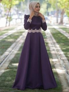 foto model gaun pesta muslimah