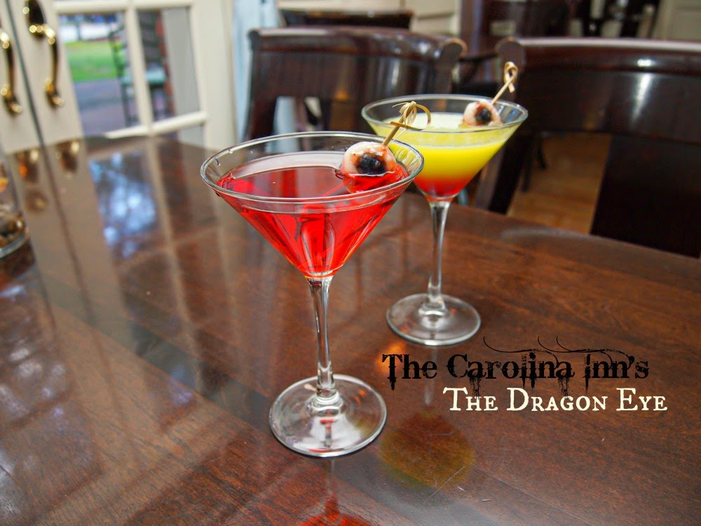 Halloween Cocktail Recipe; The Dragon Eye Martini from the Carolina Inn