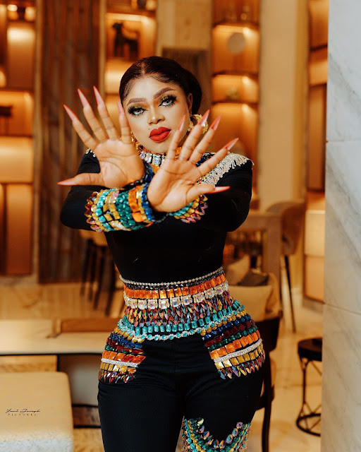 Gosh! Check out Bobrisky hips as he shows off more of his birthday photoshoot