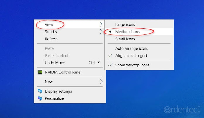 How to Resize Desktop icons? Change icons size Windows 10