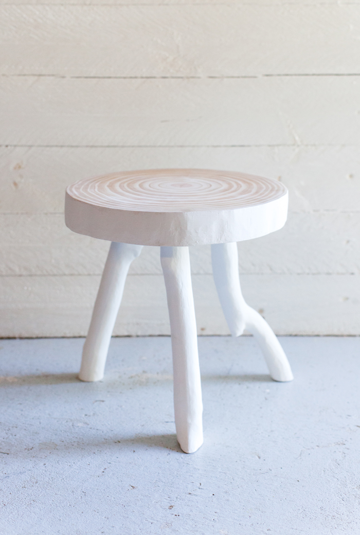 scandi nordic wood stool