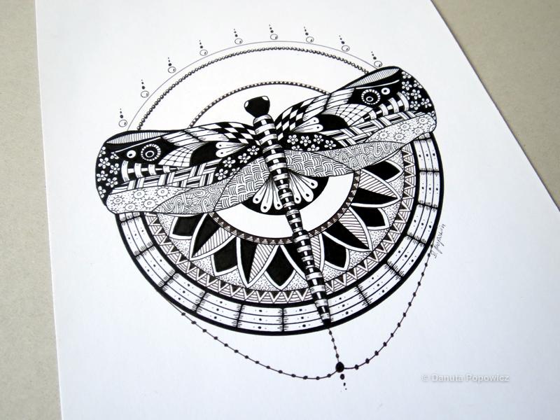 rysunek Wiosenna ważka