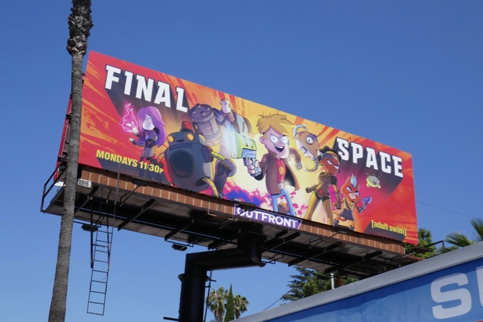 Final Space season 2 Adult Swim billboard