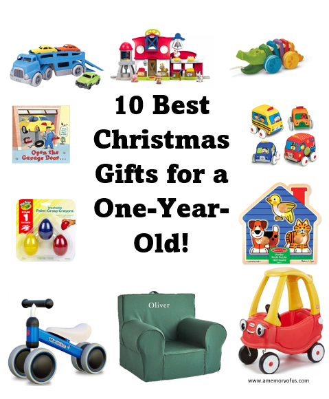 10 Best Christmas Gift Ideas for a One Year Old | 1 Year Old Christmas Ideas | Baby's First Christmas Gift Ideas | A Memory of Us Blog