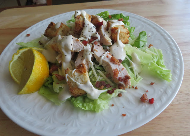 Grilled Chicken Caesar Salad for Two