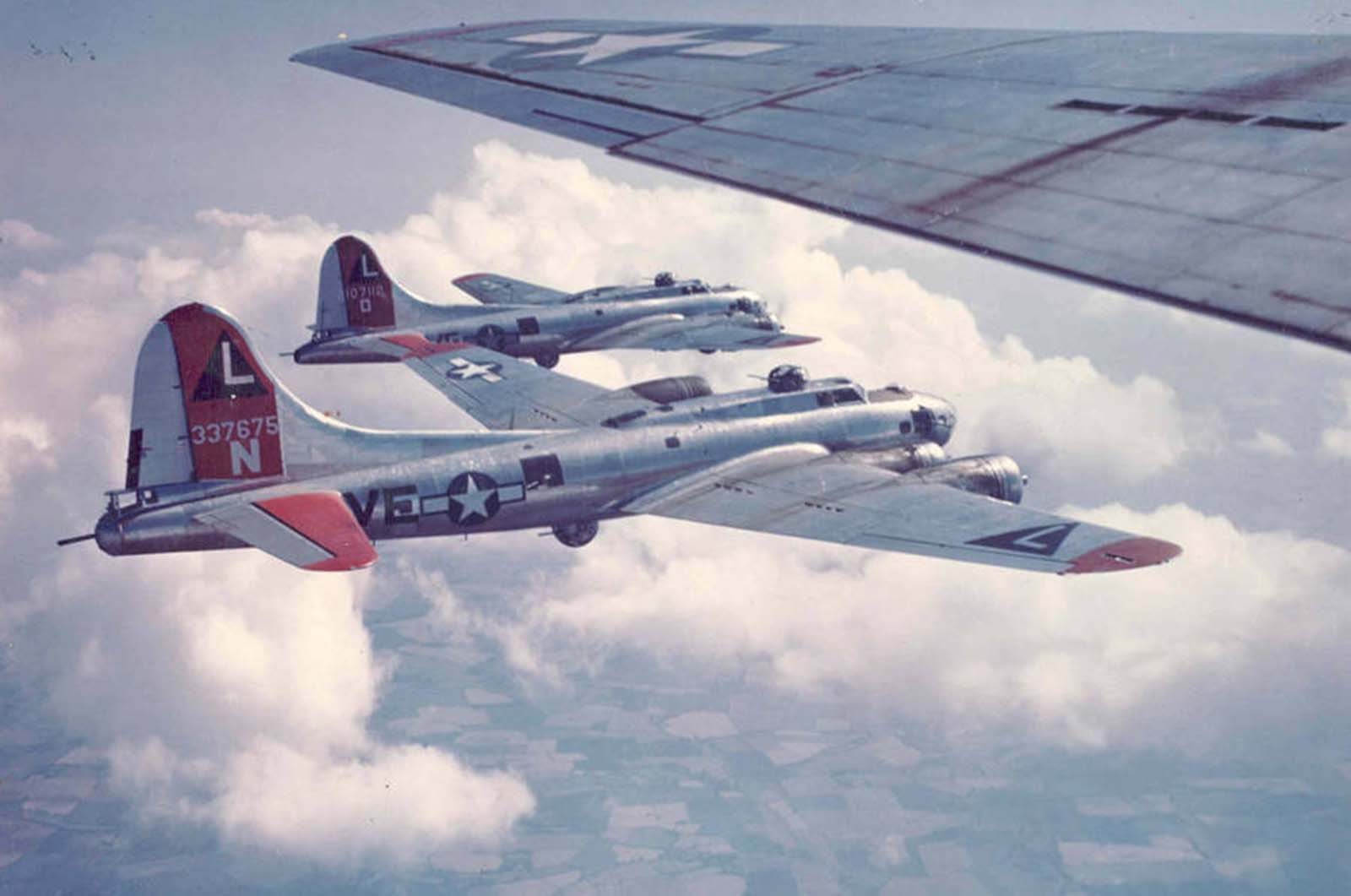 US Air Force over Germany. 1945.
