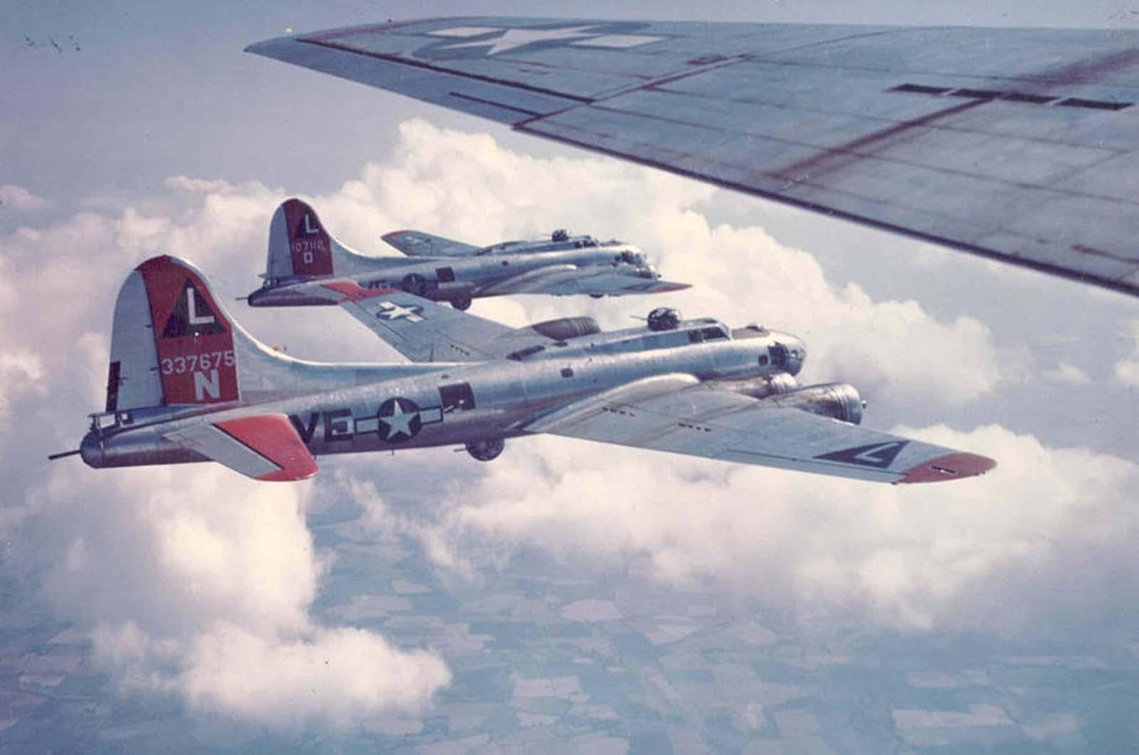 Az amerikai légierő Németország felett.  1945.