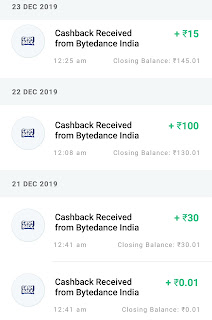 Helo App Payment Proof Paytm