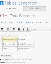 ▷ Generar Tablas en formato HTML y demas formatos facil y rapido