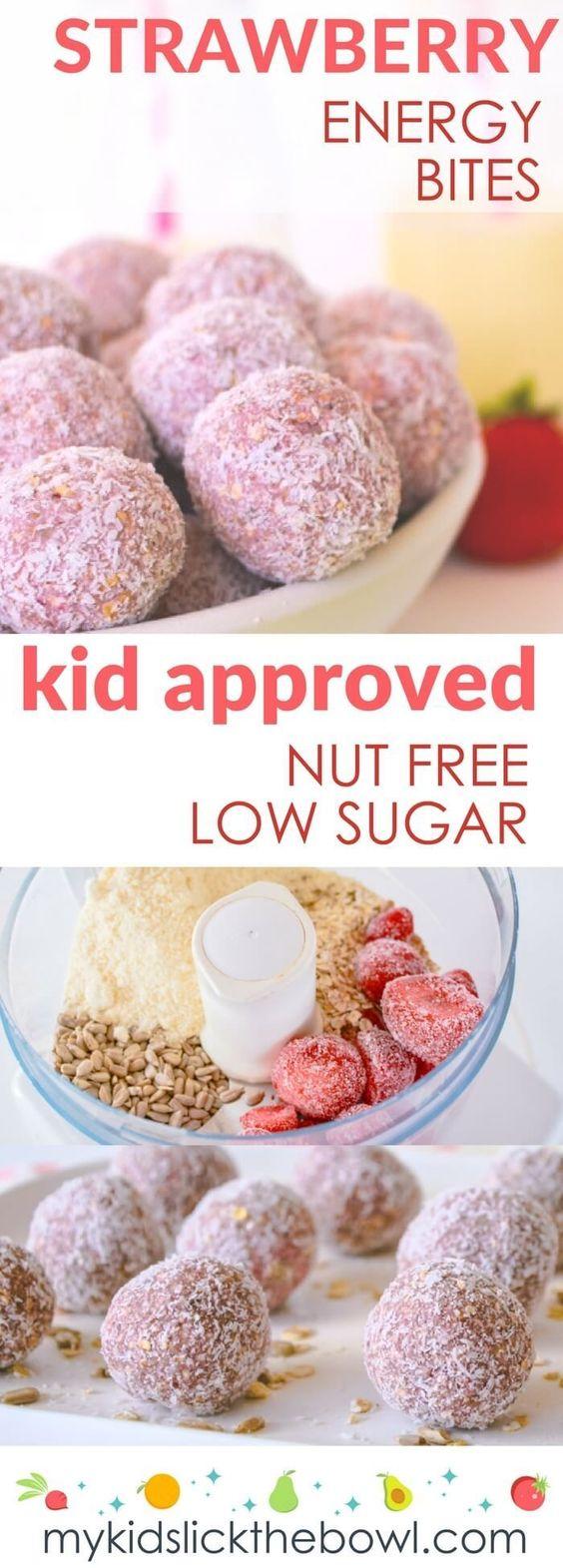 Strawberry Breakfast Bites #strawberry #breakfastrecipes #bites #healthysnack #healthyfood #healthyrecipes #snackrecipes