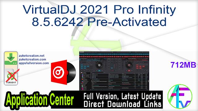 Atomix  VirtualDJ 2021 Pro Infinity 8.5.6242 Pre-Activated