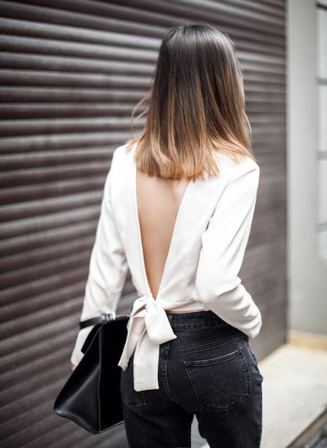 Blusa decote nas costas