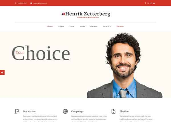 Candidate-v3  Best Political WordPress Themes 2020