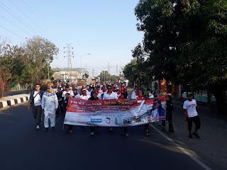 Jalan Santai Hut RI Ke 74 Tahun Di Gua Sunyaragi Kota Cirebon Meriah