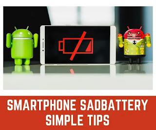 Smartphone Sad Battery Simple Tips