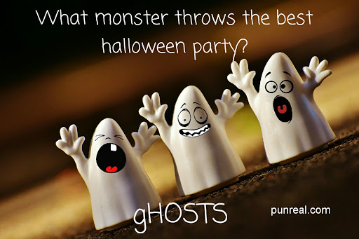 Another Party Halloween Pun for gHOSTS