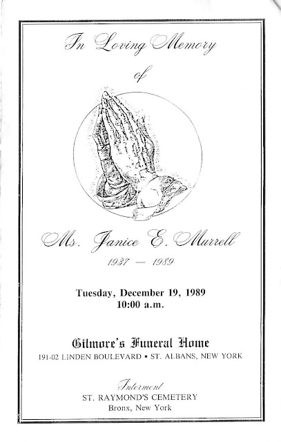 Sunday's Obituary: Janice Murrell's Funeral Program--How Did I Get Here? My Amazing Genealogy Journey