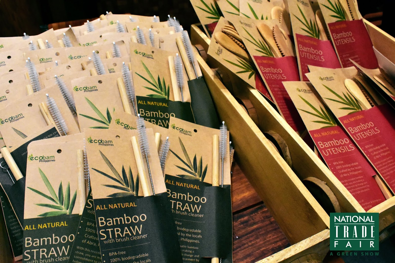 Bamboo straw and utensils by Ecobam Philippines