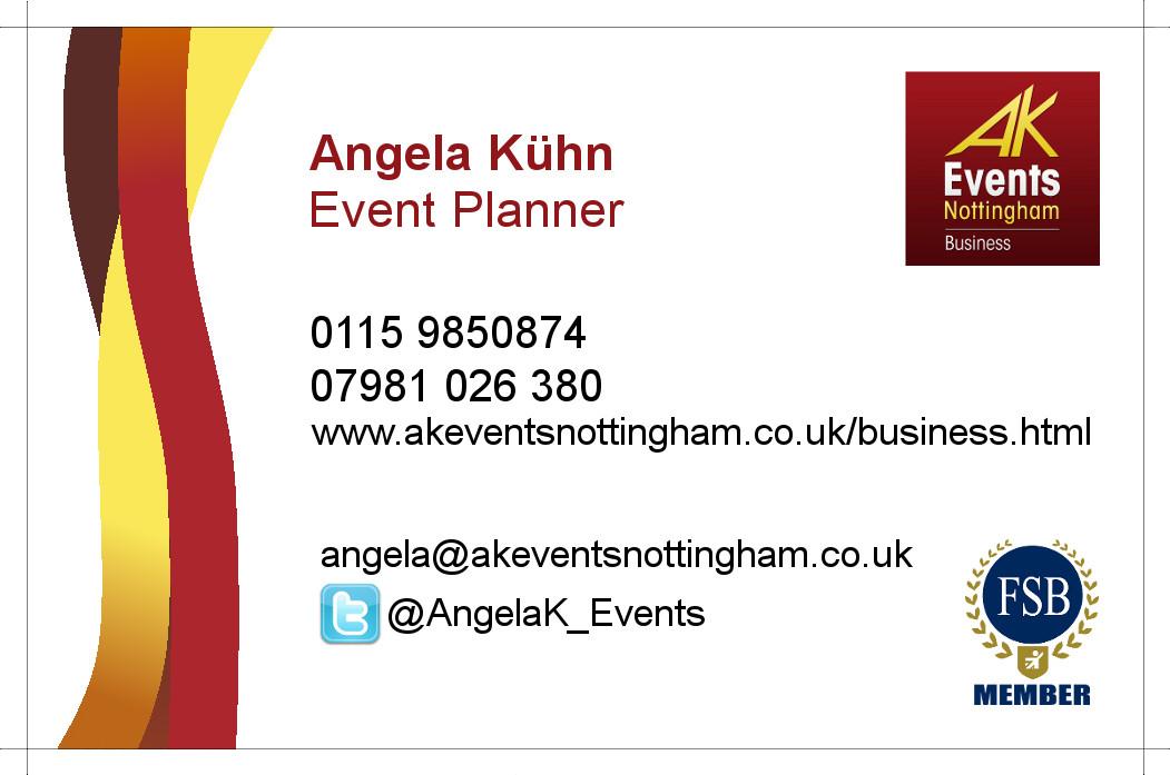 Business Card Design Event Management Company Nottingham