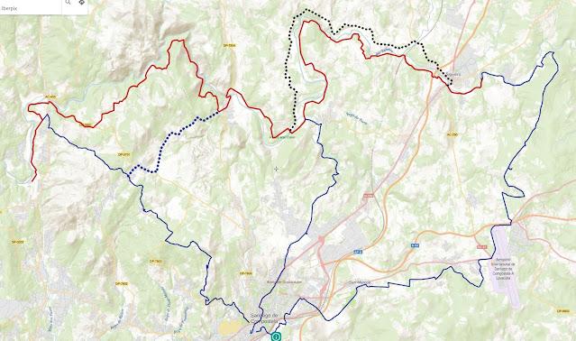 Mapa del recorrido con enlaces y variantes