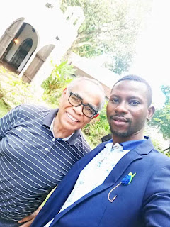 Nwobu Emeka Johnbosco in a Photo with the MD/CEO of Pinto Museum, Dr Joven Cuanang