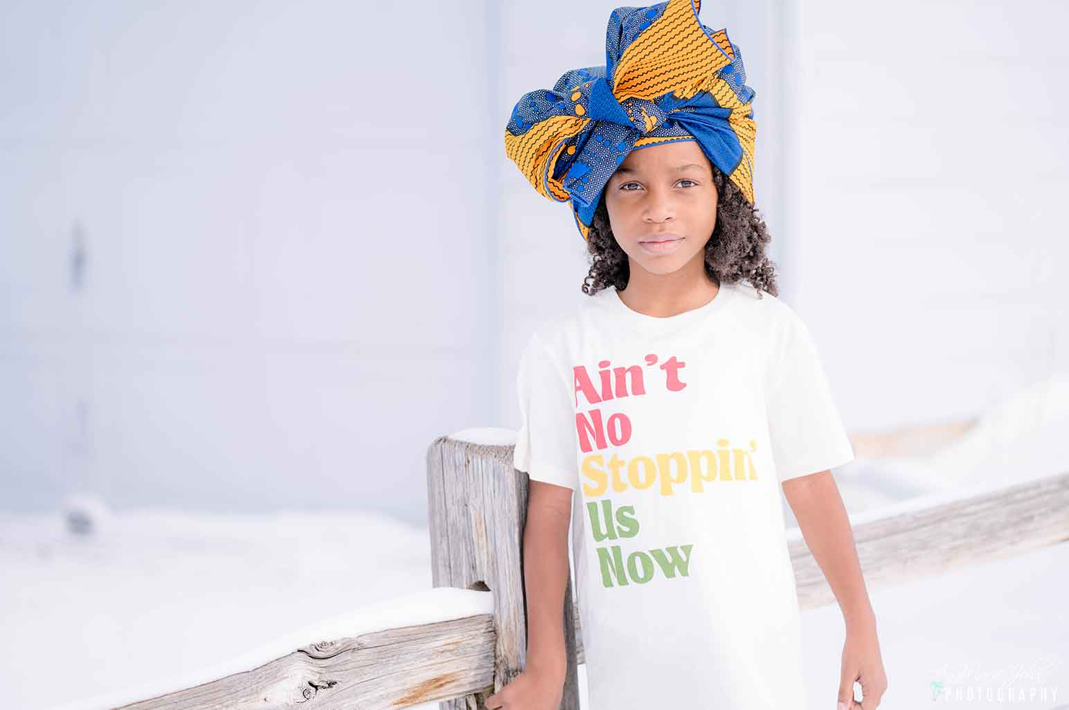 Child wearing an ain't no stopping us now tee