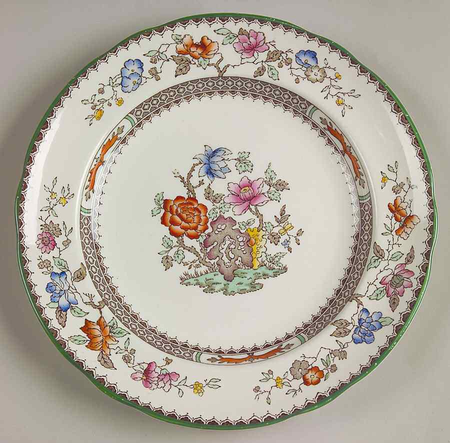 Chinese Rose Pattern Was One Of The Most Popular Of Spodeu0027s Colourful  Patterns On Earthenware In The 20th Century. Millions Of Pieces Must Have  Been Made.