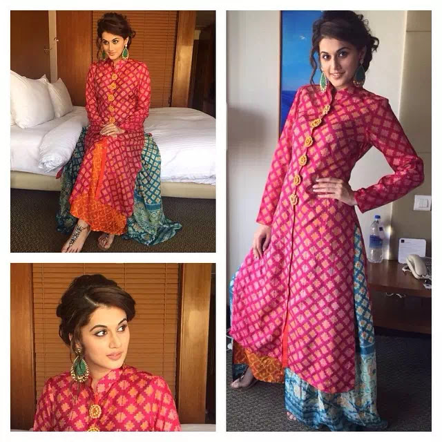 Taapsee Pannu Side parted Vintage Up-Do