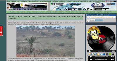 Site Val Bahia News replica matéria do blog Acontece na Tiririca!