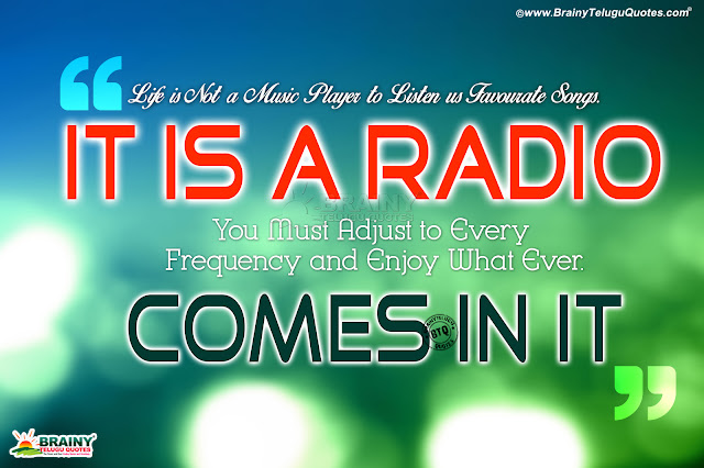 Life Is A Radio Best Positive Thinking For Life In English