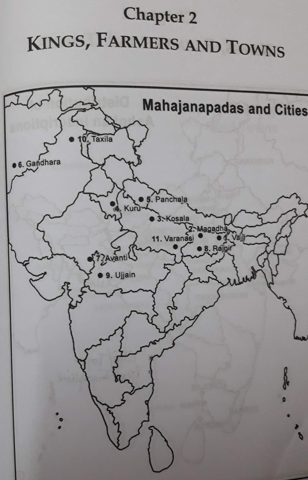Class Xii Pol Sc Class X History Pol Sc Class Xii History List Of Map Items With Filled Maps