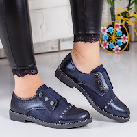 Pantofi casual dama albastri cu toc gros fara sireturi.jpg