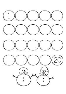 serie numérica del 1 al 20 para imprimir