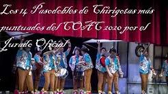 Los 14 Pasodobles de Chirigotas con mas puntuacion por el Jurado Oficial del COAC 2020