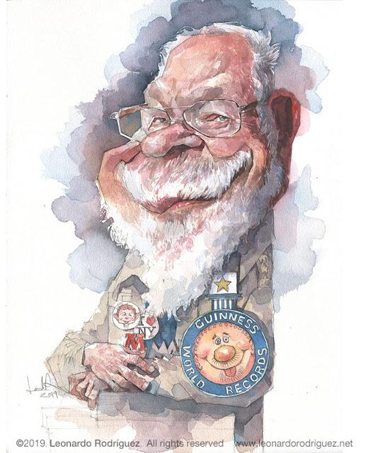 Illustration artist-Leonardo Rodríguez. caricaturas en barcelona