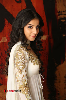 Telugu Actress Mahima Makwana Stills in White Desginer Dress at Venkatapuram Movie Logo Launch  0022.JPG