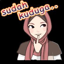 Stiker Png Update Status Wanita Hijab Pintar