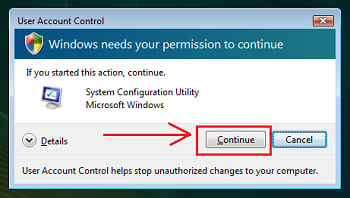 User access control windows vista