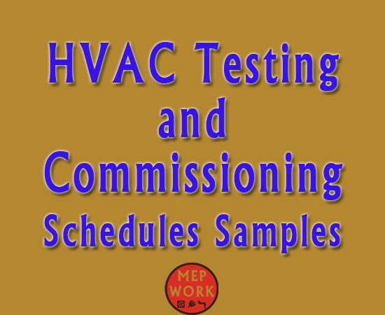 Download HVAC Testing and Commissioning Schedules Samples