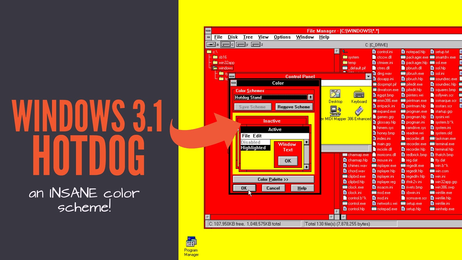 Attack of the Blog!: Windows 3 1 Hot Dog Stand Theme!