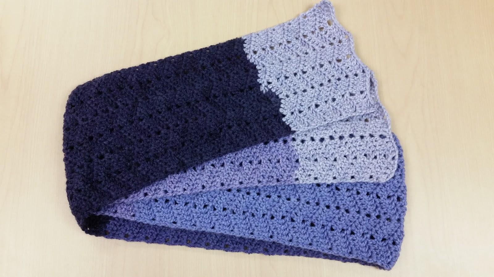 The Wandering Bunny Crochet Wave Scarf Rainy Day Crocheting