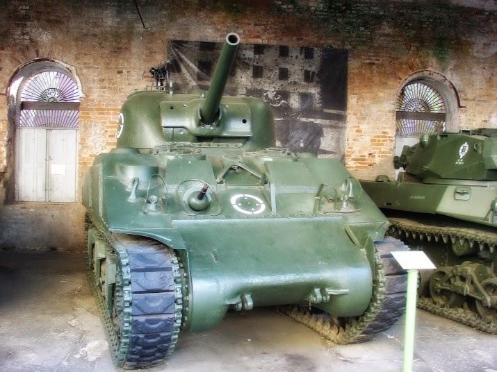 Carro de Combate Médio, no Museu do Comando Militar do Sul, em Porto Alegre