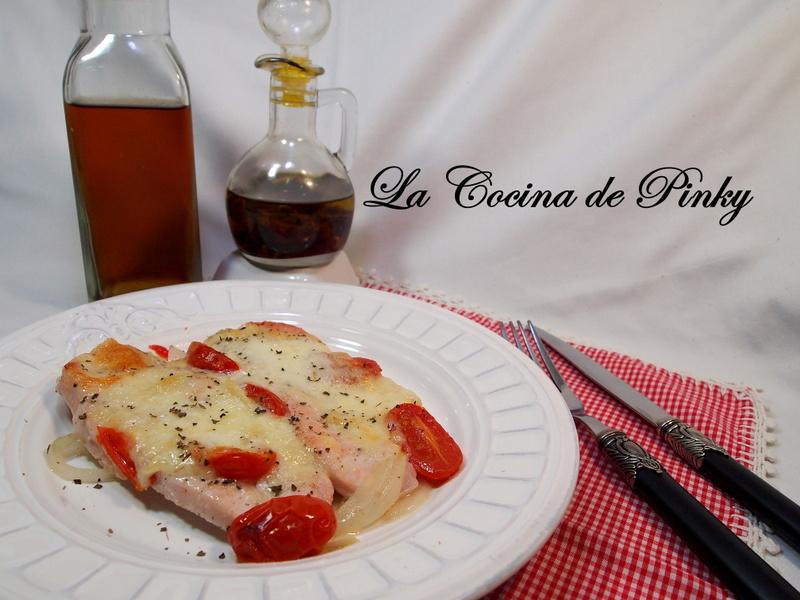 Filetes De Pavo Al Horno Con Cherrys Y Mozarella