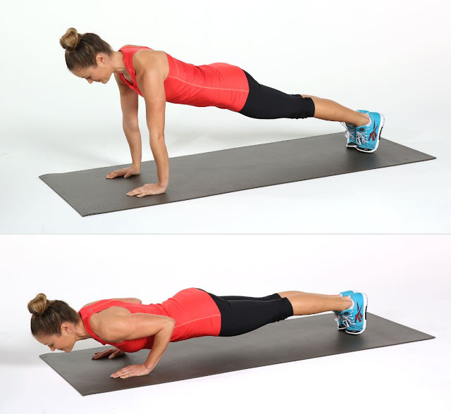 Push-ups for the chest and arms