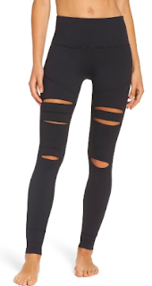 Zella Cece High Waist Open Knee leggings