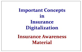Important Concepts in Insurance Digitalization- Insurance Awareness Materials