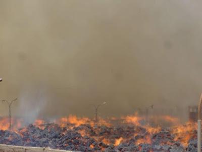 حريق مصنع السكر