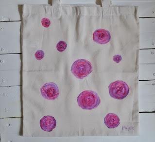 Malowana torba na zakupy
