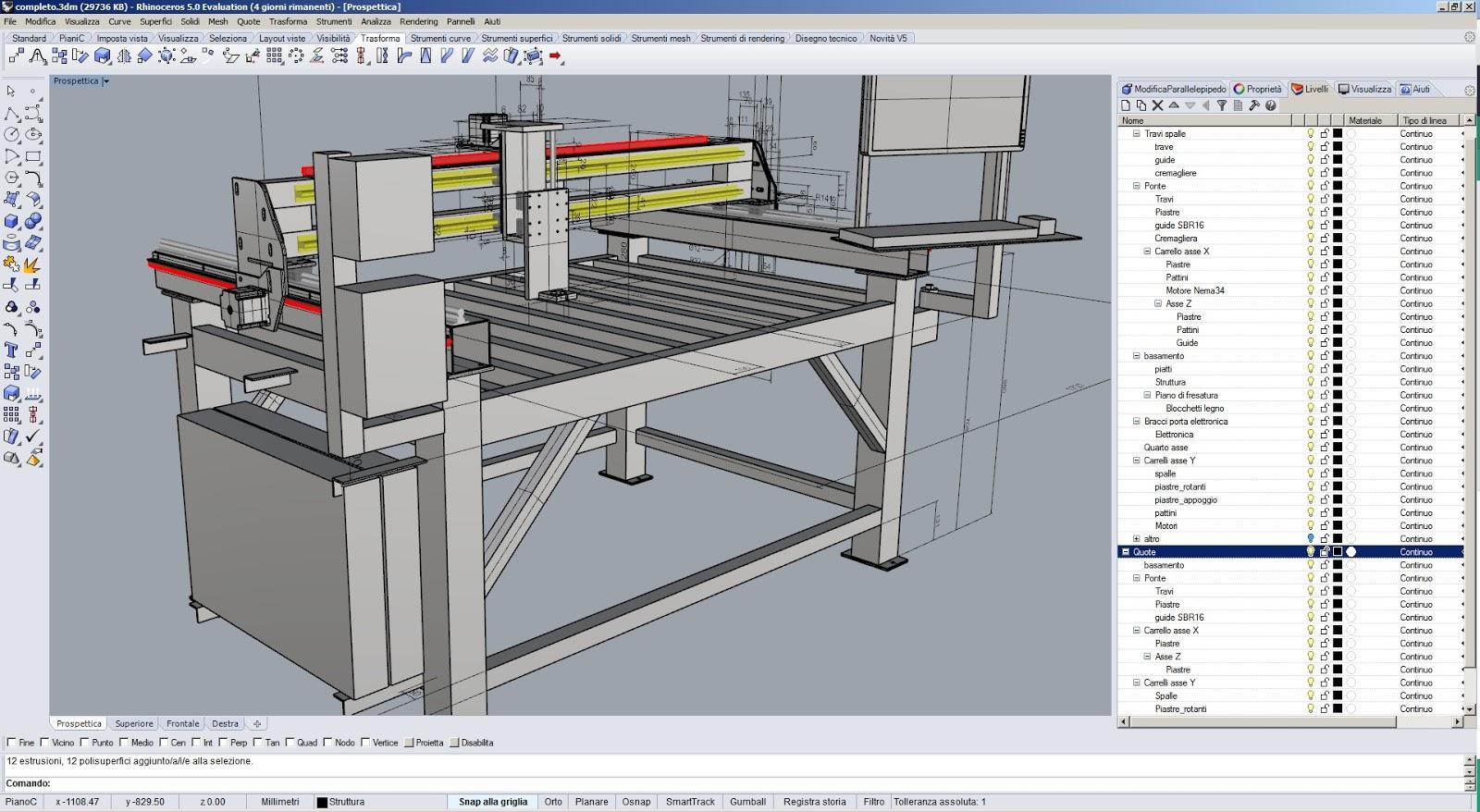 Diy progetti progetto cnc raptor 5 for Progetti in 3d