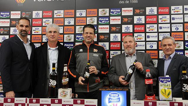 Valencia Basket celebró sus 30° aniversario lanzando su propio vino